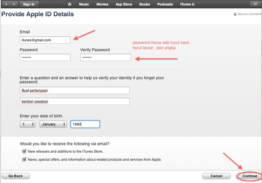 Cara membuat apple id free